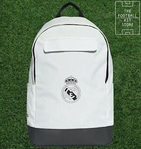 adidas Real Madrid Backpack White - RMCF Rucksack - School / Gym / Sports Bag