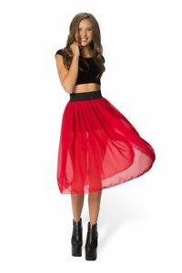 Black Milk Clothing - Chiffon Ruby Midi Skirt - L