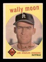 1959 Topps Set Break # 530 Wally Moon VG-EX *OBGcards*