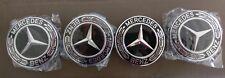 Mercedes Benz Wheel Rim 75mm Gloss Black Chrome Centre caps AMG A B C E S ML GL