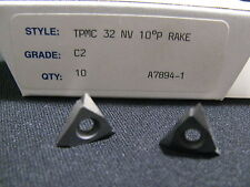 10 EA. TPMC 32NV C2 CARBIDE THREADING INSERTS