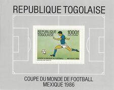(33387) Togo MNH Football World Cup Mexico 1986 Minisheet U/M Mint