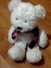 + orso peluche con sciarpa cm.30 in piedi