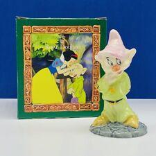 Snow White Seven 7 Dwarfs figurine Royal Doulton England Walt Disney box Dopey