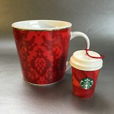 Starbucks 2004 Coffee Mug & Tree Ornament Red Christmas Holiday