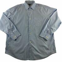 Banana Republic Men's XL Button Down Shirt Blue Striped Long Sleeve 17-17 1/2