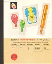 1970s VINTAGE AD SHEET #882 - QUALATEX BALLOONS - INDIVIDUALLY PACKAGED