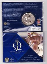 TWO SMALL SIZE PACKS 2012 UNCIRCULATED £5 CROWNS FOR THE DIAMOND JUBILEE