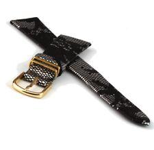 Lederuhrarmband mit Bügel Schlangenprint 18 mm Uhrband Uhrbänder Lederband