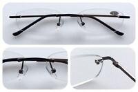 L283 Rimless Reading Glasses/Spring Hinges & Classic Smart Style Design & Unisex