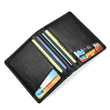 Men's Genuine Leather Slim Wallet Thin Credit Card Holder ID Case Purse Hot