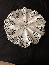 """~Vintage Crochet Lace Doily White~17"""" Diameter~"""