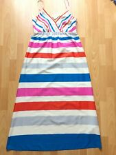 NWT MARKS & SPENCER STUNNING STRIPED DRESS - SIZE 14