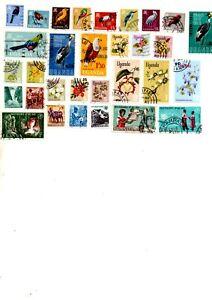 african stamps, uganda