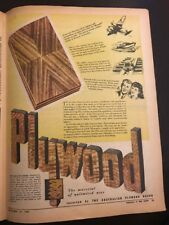 Plywood Board Original 1940s Australian Vintage Print Advertising Militaria