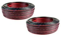 2 Rolls 22 Gauge 100 Feet Speaker Wire Stranded 2 Conductor Cable Model Trains
