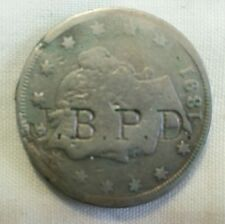 BPD countermark host 1891 us liberty V nickel counterstamp