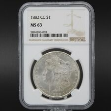 1882-CARSON CITY UNITED STATES MORGAN SILVER DOLLAR COIN NGC GRADED MS63 #8446-6