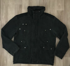Men's Size L Winter Jacket Black Denim Look