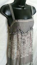 DVF Diane Von Furstenberg Vintage 100% Silk Ruffle Black Lace Print Dress Sz. 4