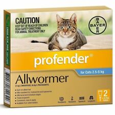 Profender Allwormer for Cats up to 5kg Two Pack
