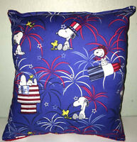 Snoopy Pillow Charlie Brown, Patriot Snoopy Red, White,Blue, Snoopy Handmade USA