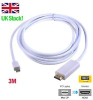 3m/10ft Mini Displayport Thunderbolt to HDMI Cable for Apple Macbook Pro/Air