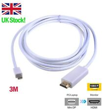 3m Mini DP Displayport Thunderbolt to HDMI Adapter for Apple Macbook Pro/Air