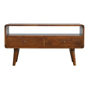 Mid Century Modern Dark Wood TV Cabinet Media Unit - Free Delivery - Assembled