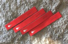 Feuerwehr Fleecejacke Zipper Anhänger glatt ohne Schlinge rot 4er Set