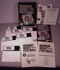 abc Monday Night Football Computer Video Game PC IBM 5.25 floppy 1989 NFL sports