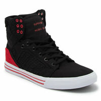 Supra Men's Skytop Hi Top Sneaker Shoes Black/Pirate Black-white Footwear Casual