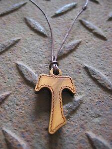Kreuzkette Kreuz Kette Halskette Olivenholz Holz Tau Herren Damen Holzkette