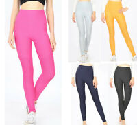 High Waist MOTO Leggings Long Ankle Length Thick Stretch Solid Colors Women's