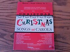 Christmas Songs & Carols Hansen's Organ Library #3