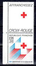 FRANCE TIMBRE CROIX ROUGE AVEC VIGNETTE 2555 ** MNH G 125ème ANNIVERSAIRE - 1988
