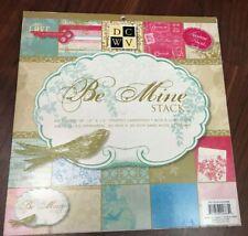 Be Mine Stack DCWV 12 x 12 Cardstock Scrapbook Paper Glitter Acid Lignin Free 47