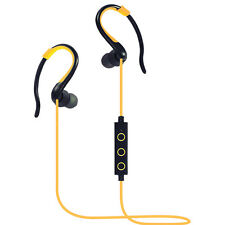 Universal Bluetooth Wireless Sport Headset Stereo Headphone Earphone Yellow