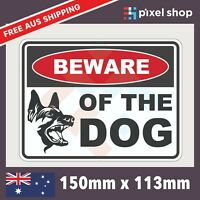 BEWARE OF THE DOG Self Adhesive Sticker Safety Sign Fence Aggressive Animal