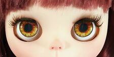 Blythe Doll Realistic Soft Eye Chips - Amber EyeChips US SELLER
