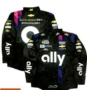 Jimmie Johnson #48 ally Replica 2020 Snap Up Uniform Pit Jacket