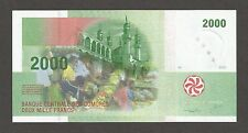 """Comoros 2000 Francs 2005; UNC; P-17, L-B308a; Market; Mausoleum; Huts; ser. """"B"""""""