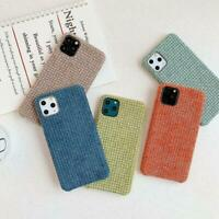 Textile Cloth Phone Cases For iPhone 11 Pro Max X XS Max XR 7 8 Plus SE