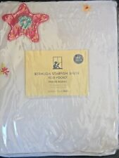 "New POTTERY BARN KIDS ""Bermuda Starfish"" Sheer pole pocket CURTAIN 100% Organdy"