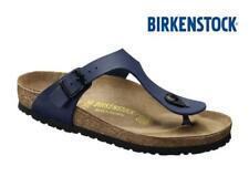 Ladies Birkenstock Gizeh Sandals Blue Summer Comfort Stylish Toe Post Flip Flop