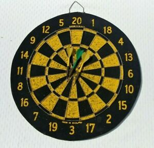Vintage Sportcraft Double Sided Dartboard With Baseball Game