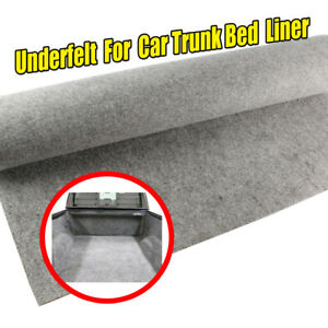 Moulded Auto Carpet Trunk Bed Boot Liner Overlay Underfelt Materials Grey white
