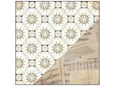 "25p Scrapbook Paper 12"" Bazzill Timeless Sonnets Vintage Sheet Music Antique"