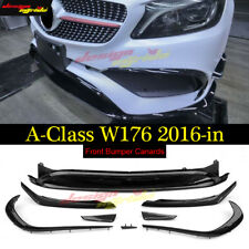Mercedes W176 ABS Front Bumper Lip 8pc for A Class AMG Style 2016-18 A200 A180