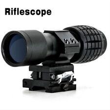 Nouveau 4X Magnifier Scope Sight + Flip-To-Side 20 mm Mount pour observer les oiseaux de chasse